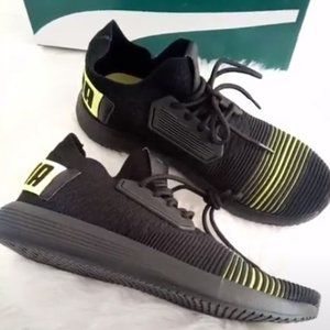 New Puma Black & Lime Punch Sneakers Men Size 9